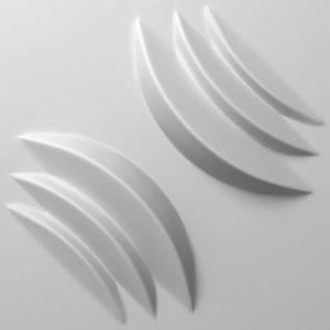 3D ZIDNE OBLOGE MIDNIGHT FLOW
